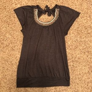 Vanity Gray Top with Banded Bottom XL